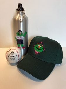 Wally Water Bottle, Hat and Baseball | Promo Items | Custom Apparel | Boston, Medford