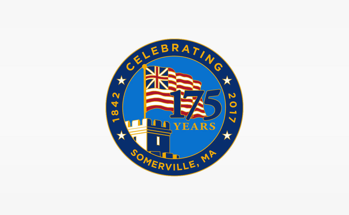 City of Somerville 175th Anniversary Circle Logo