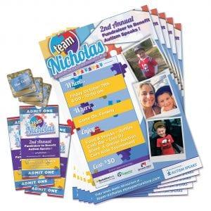 Team Nicholas Print Design | Tickets, Brochures, Cards