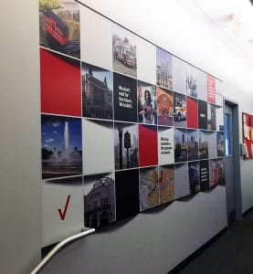 Custom Designed Tile Wall Mural for Verizon