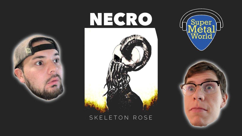 Necro album cover skeleton