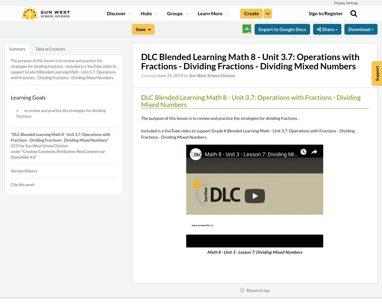 Dlc Blended Learning Math 8