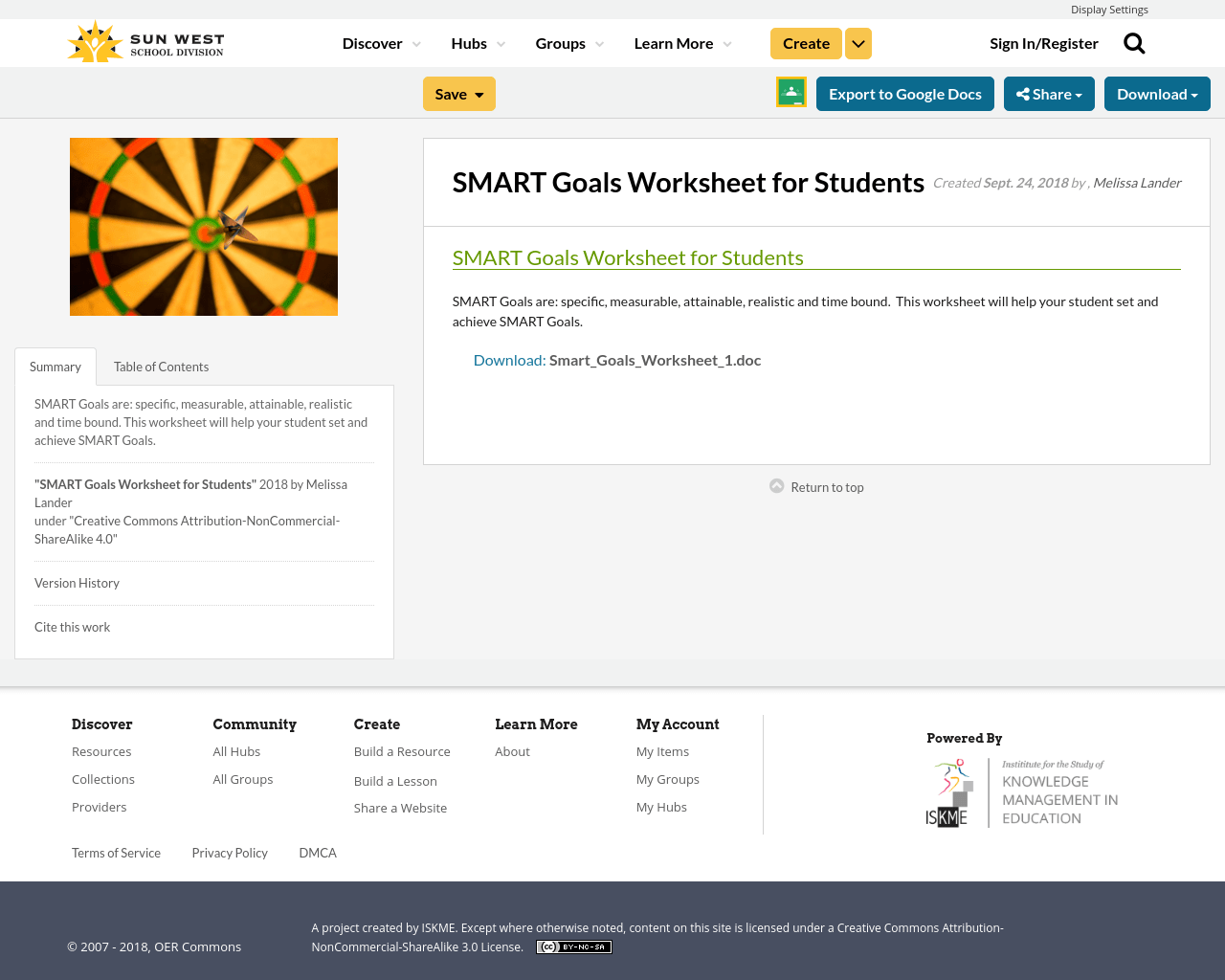 Smart Goals Worksheet For Students