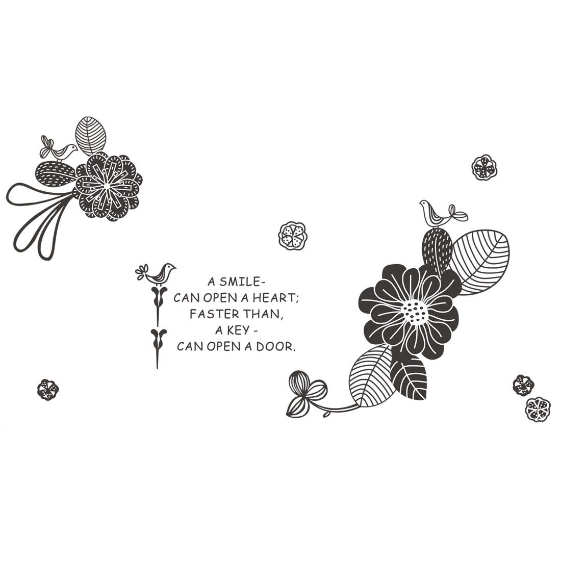 Flower English Sentence Pattern Living Art Decal Wall