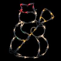 """15"""" Lighted Snowman Double Sided Christmas Window ..."""