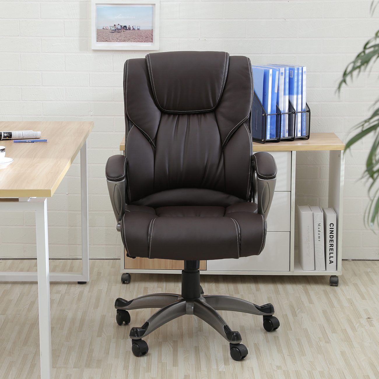 Office Chair Deals Belleze Executive High Back Leather Chair Desk Comuter