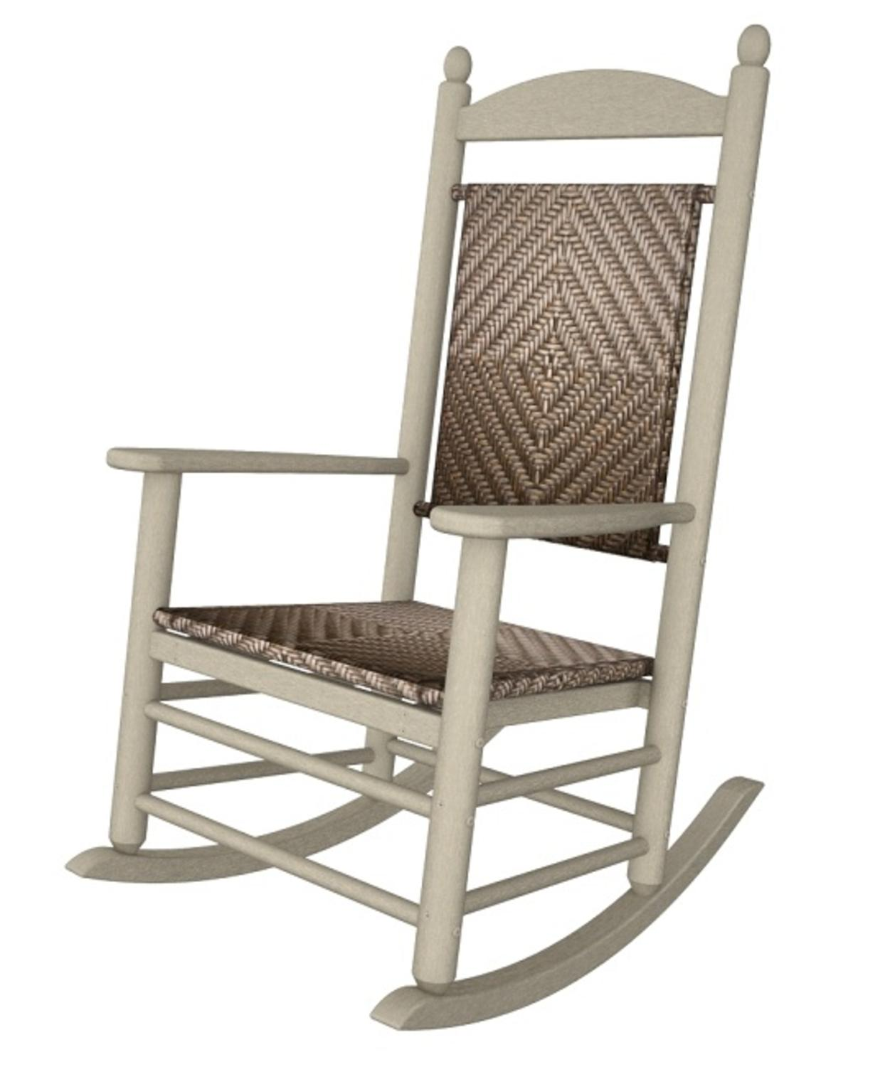 Banana Rocker Chair 47 Quot Earth Friendly Recycled Patio Rocking Chair Sand