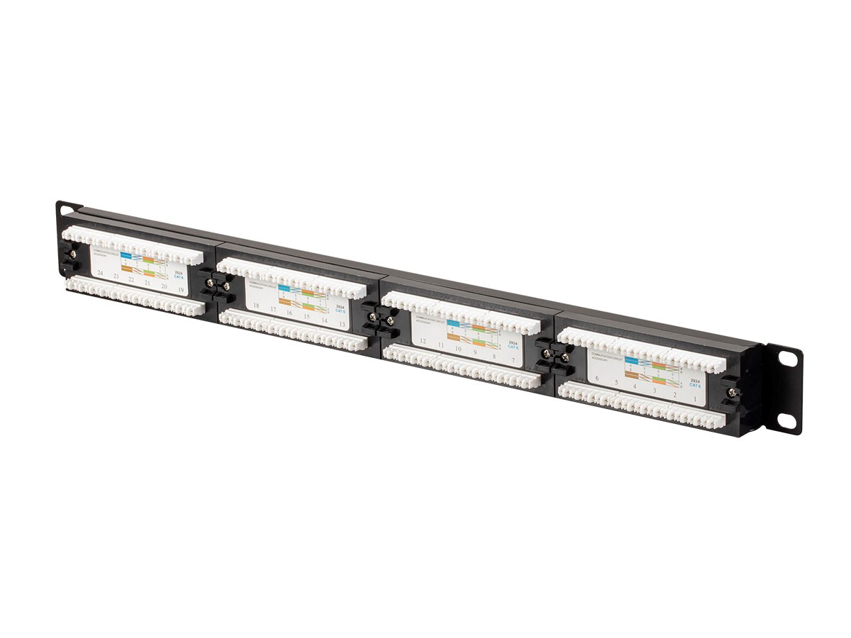 MonopriceCat6 UTP 19-inch 1U Patch Panel, 24-port with