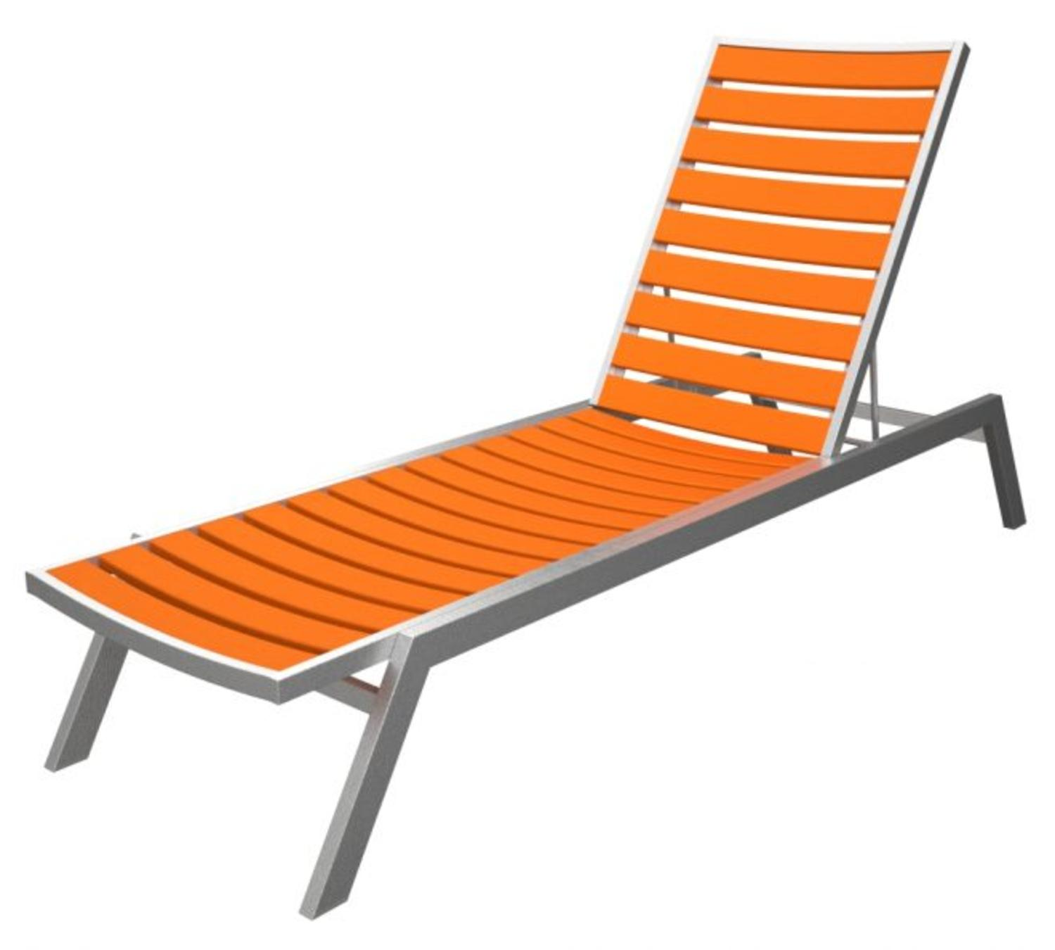 Orange Lounge Chair 78 25 Quot Recycled Earth Friendly Chaise Lounge Chair