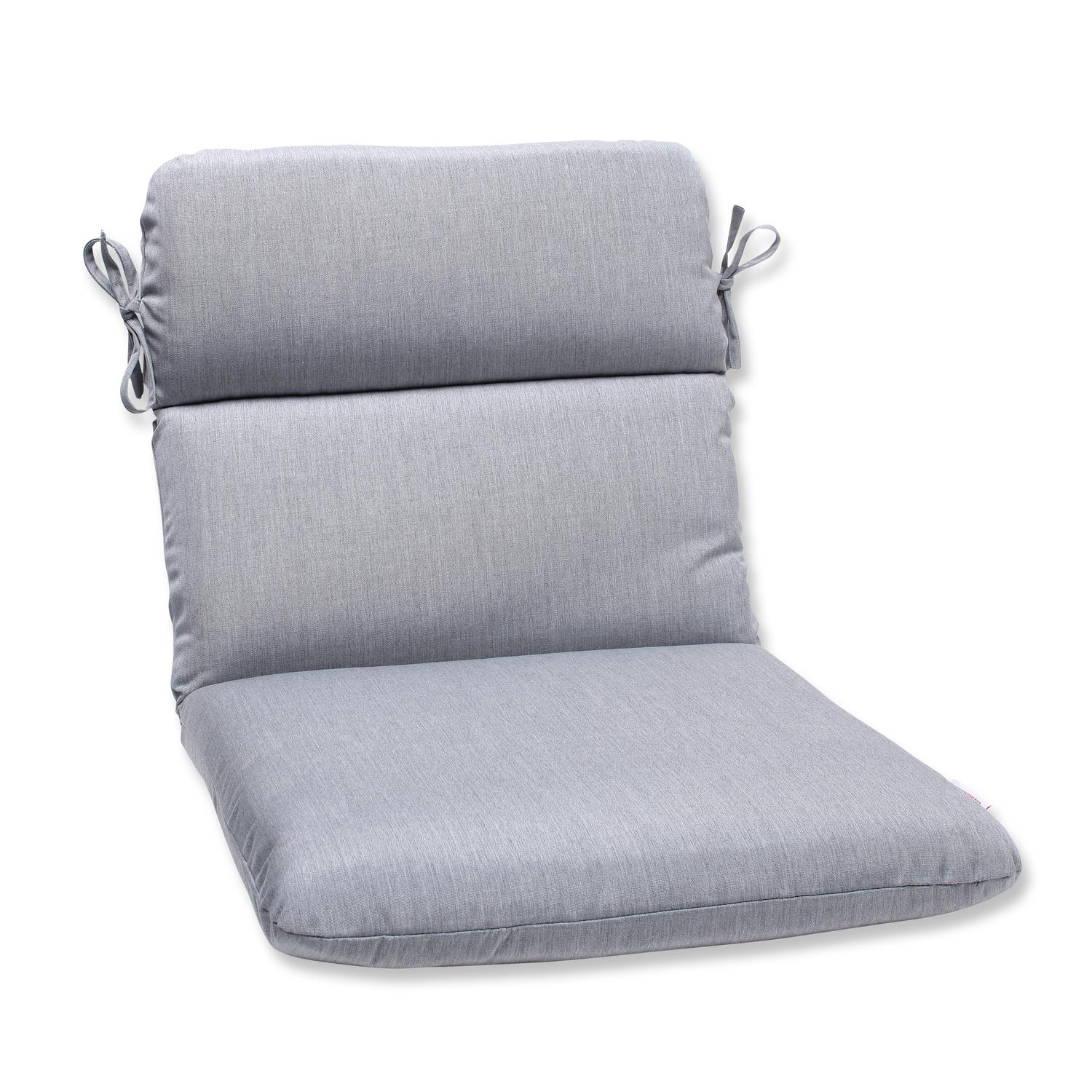 Gray Chair Cushions 40 5 Quot Sunbrella Gray Outdoor Patio Rounded Chair Cushion