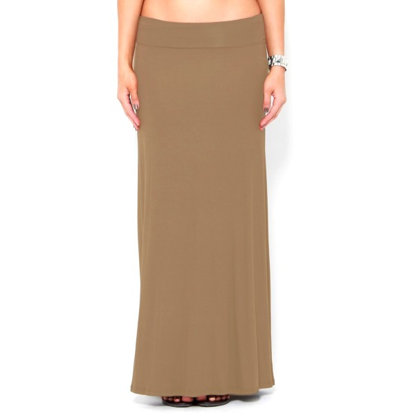 3-pack Fold-over High-waisted Comfy Maxi-skirts - Bellechic