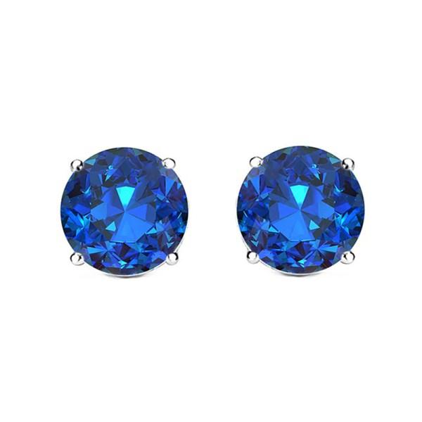 Sterling Silver & Colored Gemstone Stud Earrings - Tanga
