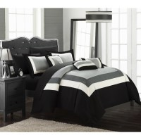 10-Piece Danny Colorblock Bed-in-a-Bag Comforter Sets - Tanga