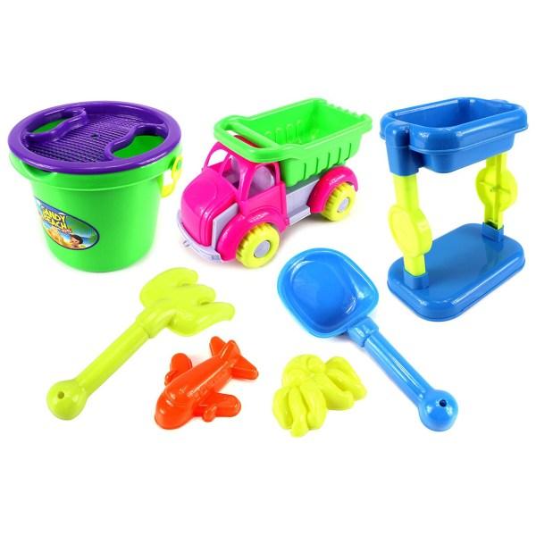 Sandy Beach Dump Truck Tower Children' Kid' Toy Sandbox Playset - Tanga
