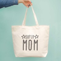 Super Mom Canvas Bag Grocery Bags Diaper bag Mothers Day ...