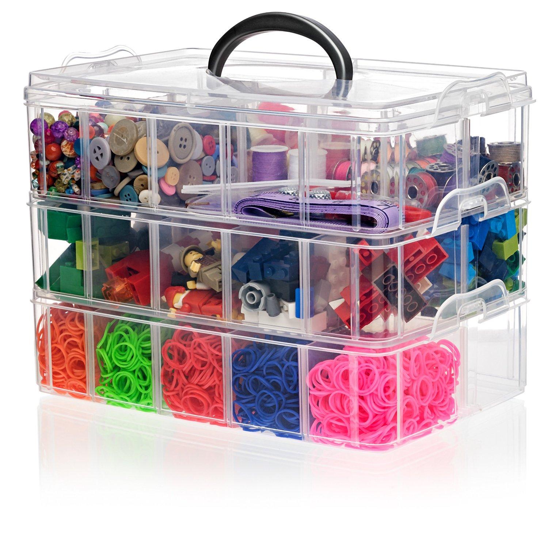 Arts Crafts Bin Hobby Toy Storage Perler Beads Jewelry
