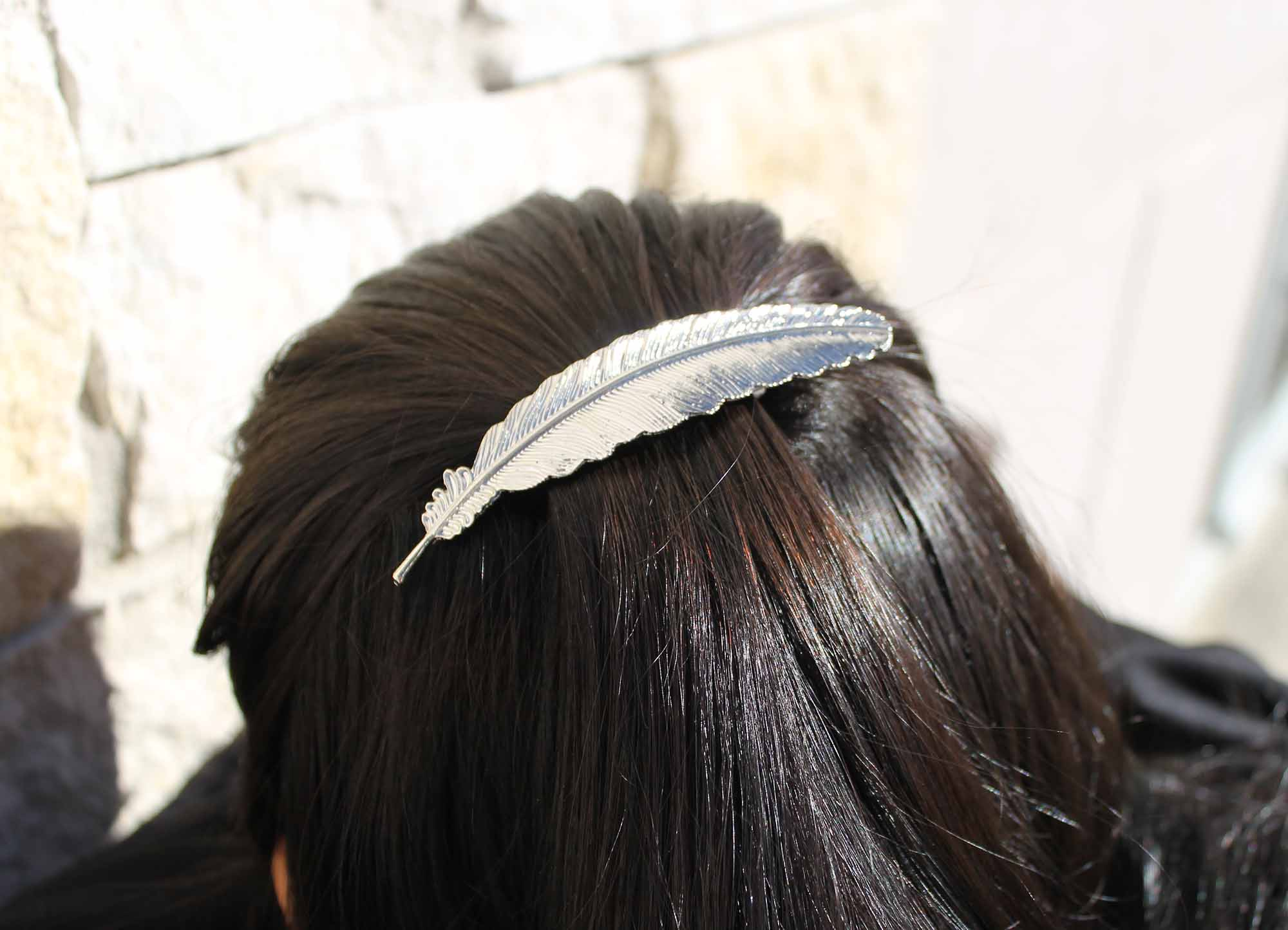 Boho Feather Hair Clips 3 Colors BelleChic