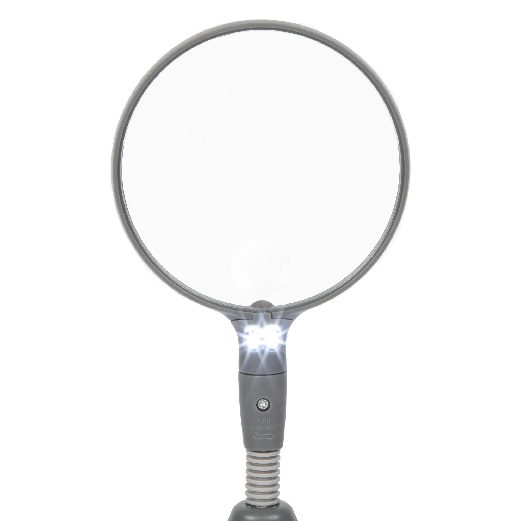 Stalwart 2 Led 2x Adjustable Magnifier Lamp