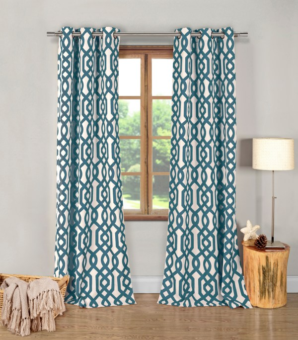 Geometric Patterned Curtain Panels