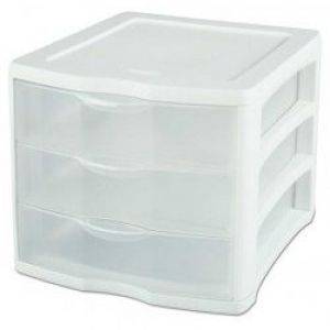 Sterilite Sterilite ClearView 3-Drawer Organizer - Set of 2
