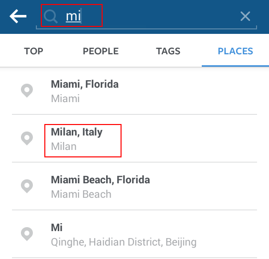 How to Search on Instagram for Users Photos Locations
