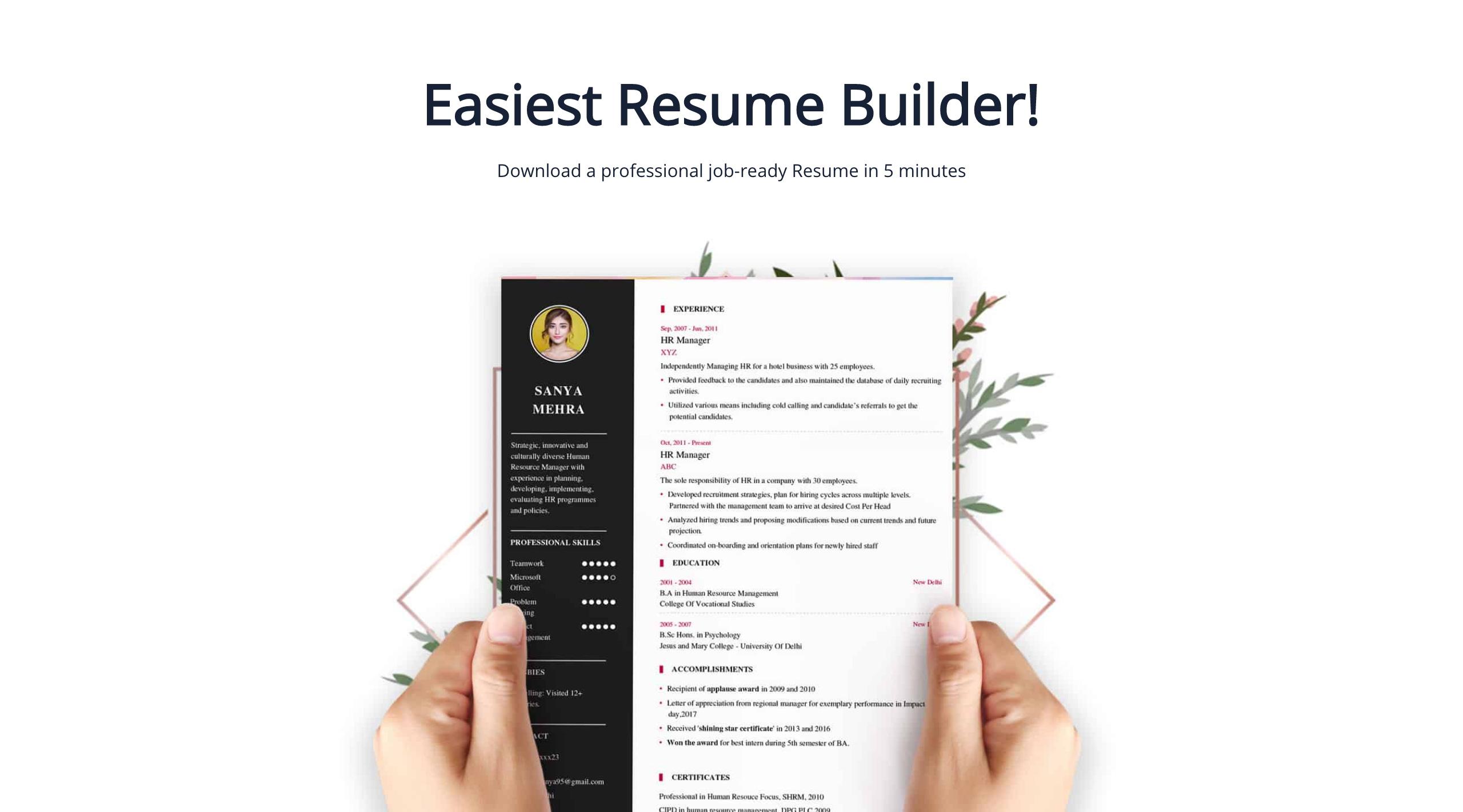 Resume Maker Delhi Resume Examples Resume Template