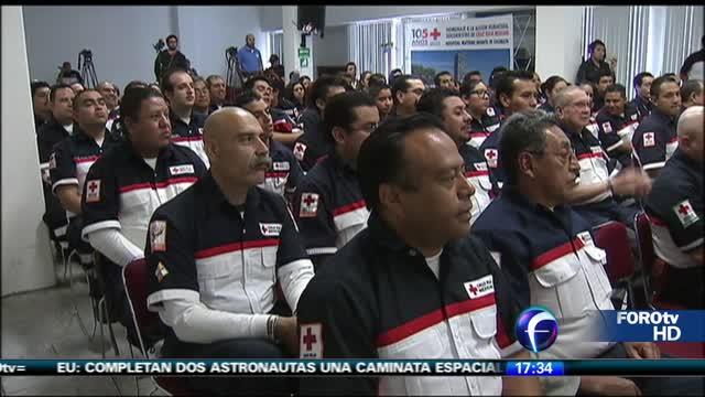 Cruz Roja entrega medallas a socorristas por labor Cuajimalpa