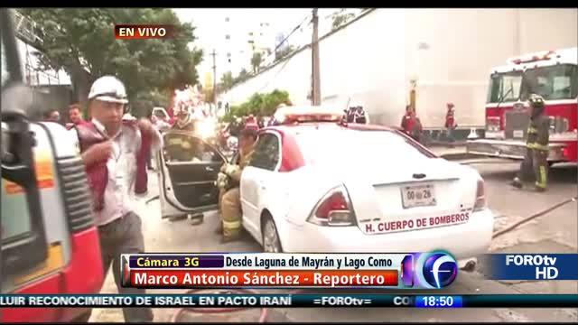 Fuga de gas en la delegación M.Hidalgo
