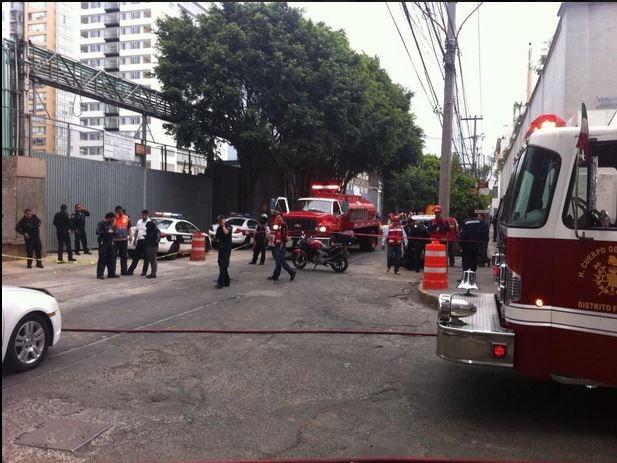 Controlan fuga de gas en la delegación Miguel Hidalgo