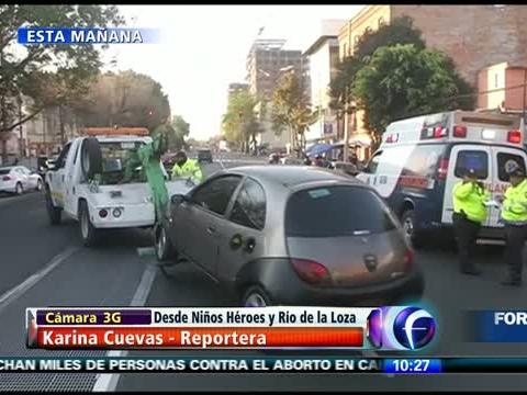 Taxis se impactan en Río de la Loza