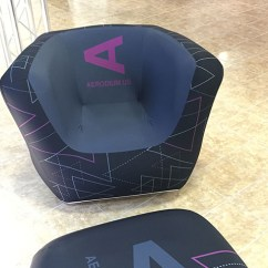 Inflatable Chairs For Adults Flip Out Branded Furniture Events Custom Printed Cubrick Chair