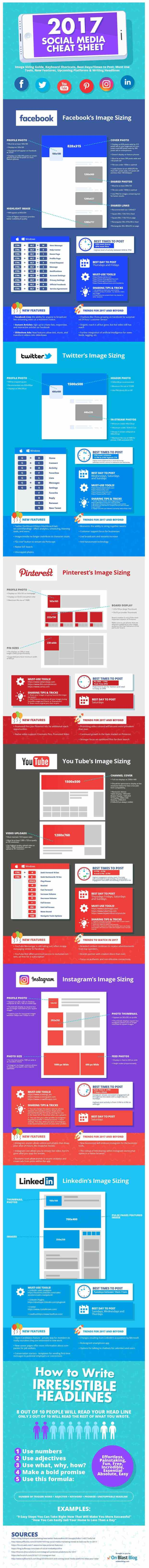 Infographic: The Indispensable Social Media Cheat Sheet Infographic