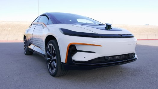Faraday Future FF-91 with LIDAR extended