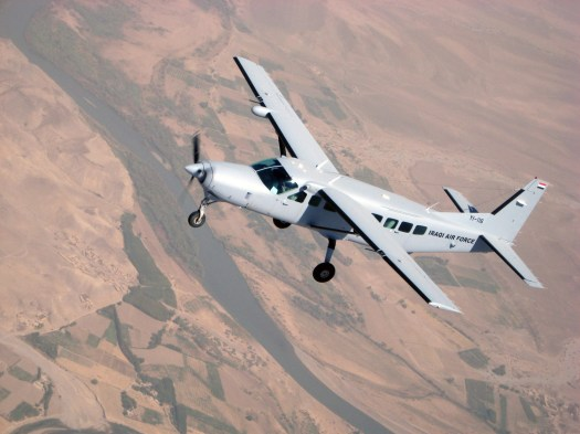 An Iraqi Air Force Cessna C-208, similar to the U-27As the 427th Special Operations Squadron has reportedly operated.