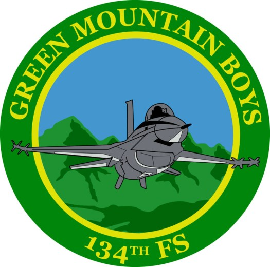 The emblem of the Vermont Air National Guard 134th Fighter Squadron.