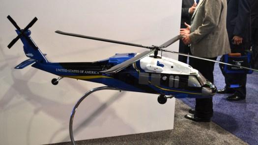 A model of Sierra Nevada's UH-60L Force Hawk.