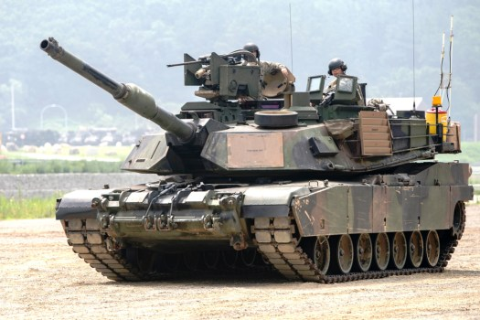 One of the US Army's M1A2 Abrams tanks, which are too heavy to adequately support light infantry and airborne forces.