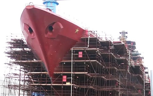 Once finished, the ship will be the pride of the Russian Navy.