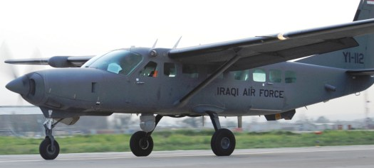 One of Iraq's AC-208 Combat Caravans with the sensor turret visible below the fuselage. Afghanistan's aircraft will be in a similar configuration.