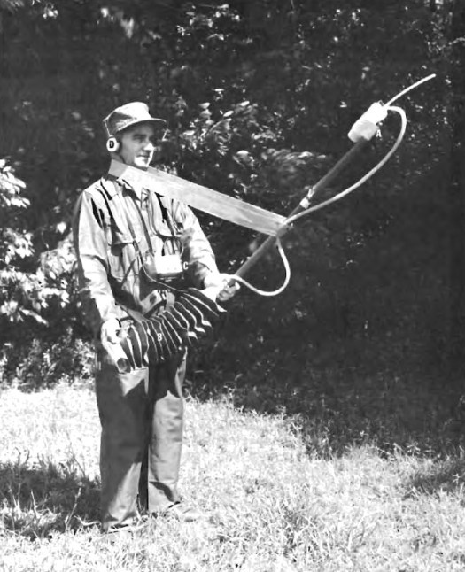 A low quality scan showing one of the Army's Vietnam War-era bug-powered people sniffers.