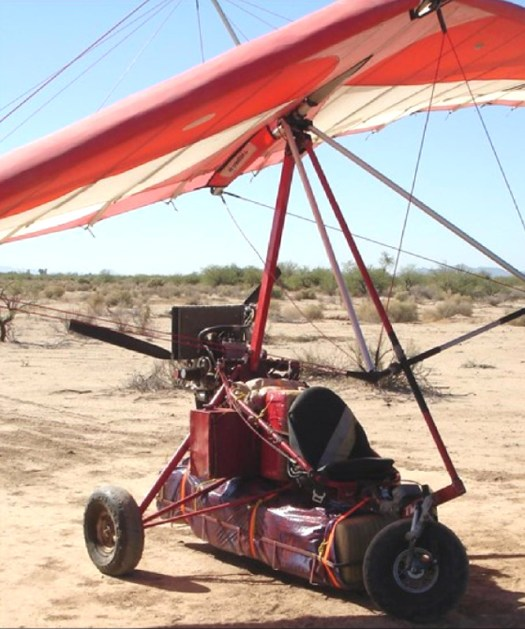 CBP seized this drug-carrying paraglider ultra-light aircraft after it crossed the US-Mexico border.