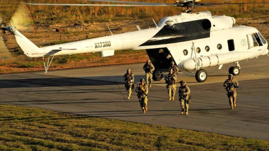 US Air Force Special Operators train with a Mi-17.