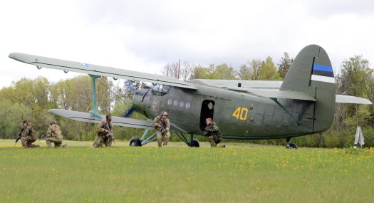 American and Estonia special operators train with an Estonian Air Force An-2 biplane in 2014.