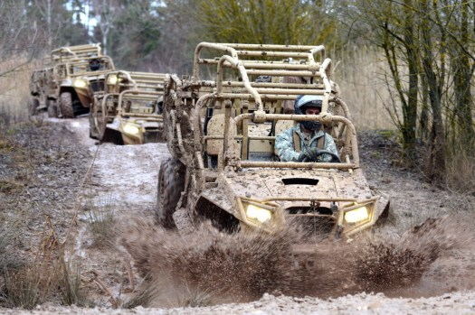 US Army Special Forces soldiers train to drive MRZRs.