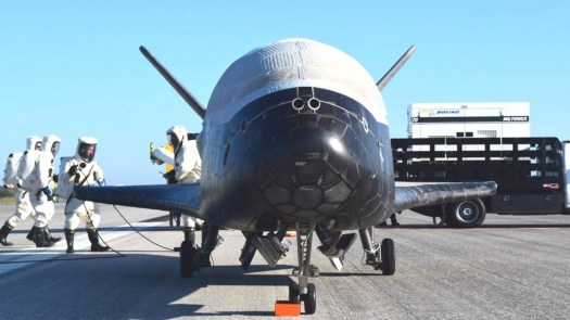 The US Air Force's secretive X-37B space plane, one of the projects that could end up under the control of a new US Space Command or Space Development Agency.