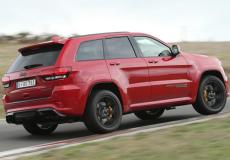 2019 Jeep Grand Cherokee Trackhawk (UK Spec) Right Rear Three Quarters