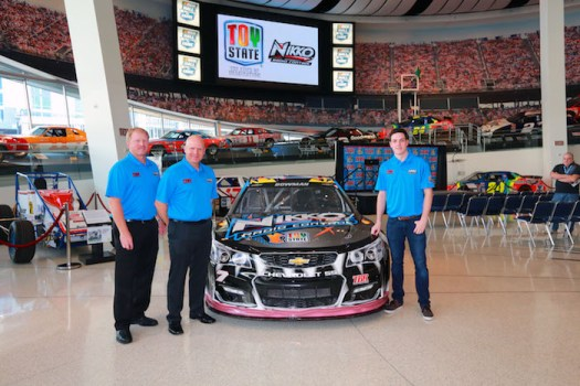 Tommy Baldwin Racing competed in the Monster Energy NASCAR Cup Series between 2009 and 2017. Alex Bowman [right] drove the No. 7 TBR Chevrolet in 2015.