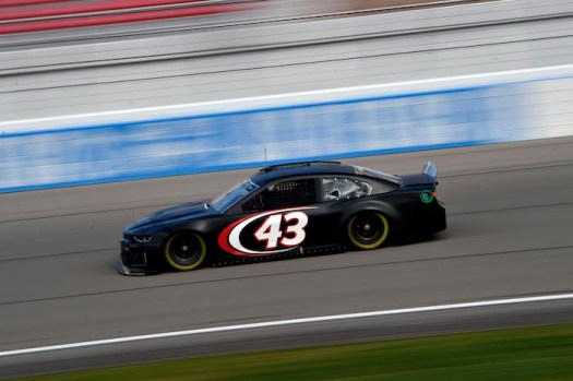 Darrell Wallace Jr. participates in a NASCAR test at Las Vegas Motor Speedway on Jan. 31, 2019.