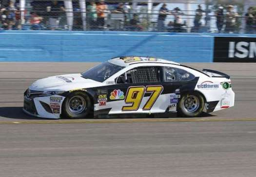Tanner Berryhill drives Obaika Racing's No. 97 in a Monster Energy NASCAR Cup Series race at ISM Raceway on Nov. 11, 2018.