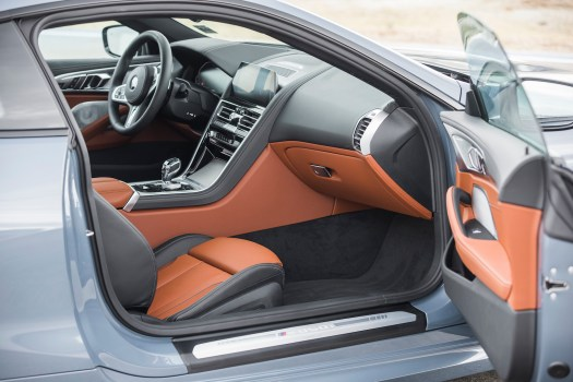 Two-plus-two cockpit gets shapely dash, waterfall center stack